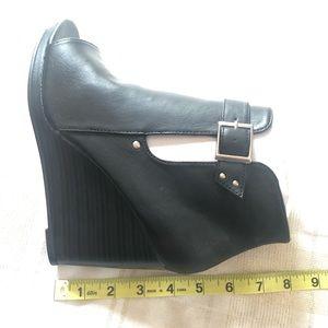 torrid Shoes - Torrid Women's Peep Open Toe Booties, Size 8W